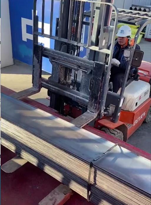 止水钢板装车